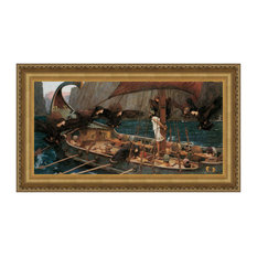 """""""Ulysses and the Sirens 1891"""" Stretched Canvas Replica, 47""""x26"""""""