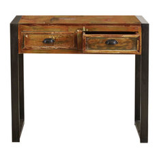 2 Drawer Urban Chic Reclaimed Wood Console Table