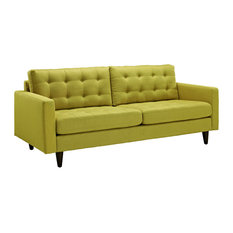 Empress Upholstered Fabric Sofa, Wheatgrass