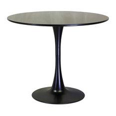 Design Tree Home Fiberglass Tulip Table, Black