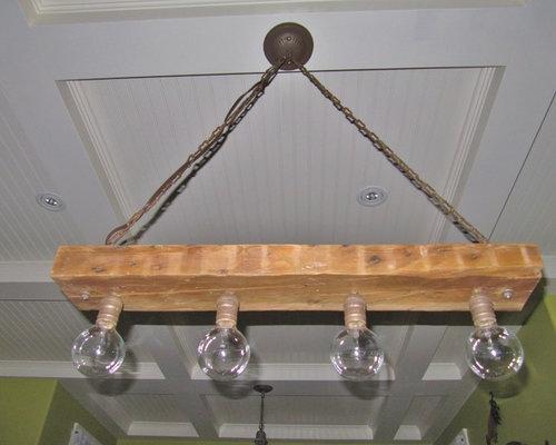 Reclaimed Wood Kitchen Light - Ceiling Lighting - Reclaimed Wood Kitchen Light