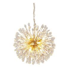 12-Light Premium K9 Crystal Dandelion Modern Chandelier