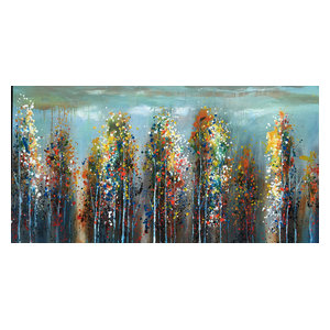 """Colorful Woodland"" Hand Painted Oil Canvas Artwork; Modern Art; Fine Art"