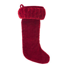 "8x19"" Plush Red Velvet Stocking"