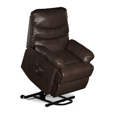 Prolounger Brown Renu Leather Lift Wall Hugger Recliner