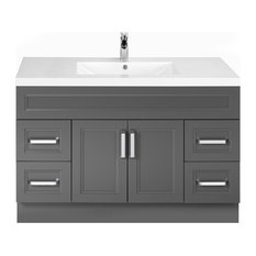 Daybreak 48'' Contemporary Vanity 2 Door 4 Drawer With Single Bowl Top by Cutler