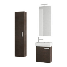 "18"" Wenge Bathroom Vanity Set"