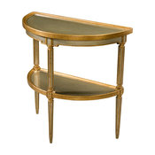 Silvered and Gilt Verre Eglomise Pier or Console Table