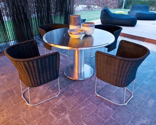 Teppanyaki Grill Table ROUND 47 Inch   Fire Pits
