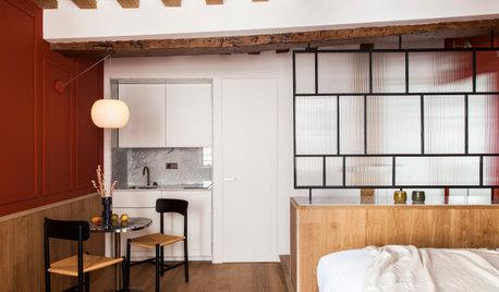 Avant/Après : Un 28 m2 parisien à l'esprit boudoir