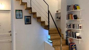 Escalier avec aménagement sur mesure