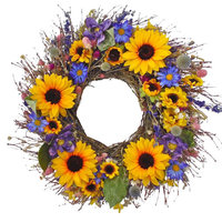Sunflower Bouquet Wreath, Small