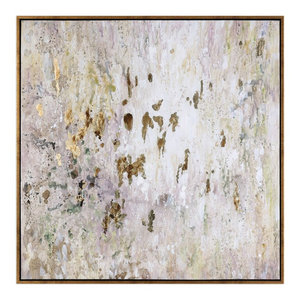 "Oversize 60"" Abstract Oil Painting, Wall Art Artwork Gold White Brown"