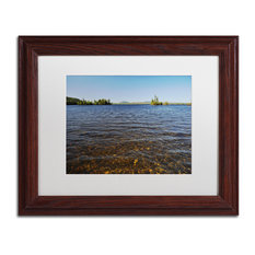 Nicole Dietz 'View From The Shore' Matted Framed Art, Wood Frame, White, 14x11