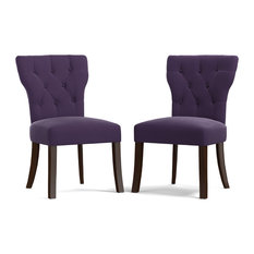 MOD   Maisie Upholstered Dining Chairs, Set Of 2, Purple   Dining Chairs