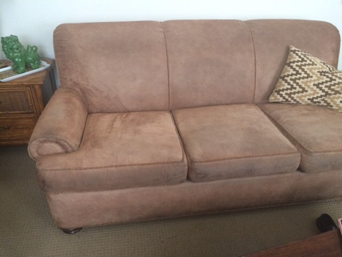 Sofa Redone In Wide Wale Corduroy
