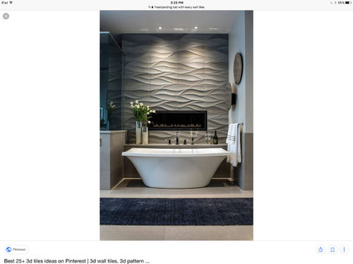 Feature Wall In Bathroom Behind Freestanding Tub Or Not