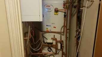 Change old vented to unvented with installation of system boiler