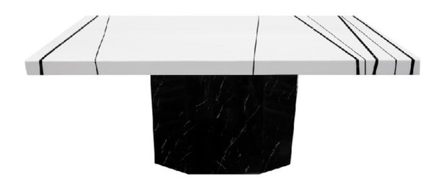 White And Black Marble Rectangular Dining Table Contemporary - White marble rectangular dining table