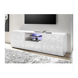Prisma (white) 2 door 1 drawer TV unit