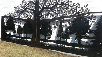 Driveway Gates with Tree Designs by JDR Metal Art