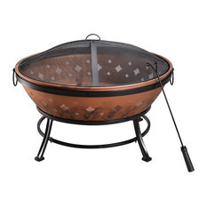 Round Copper Wood Burning Fire Pit