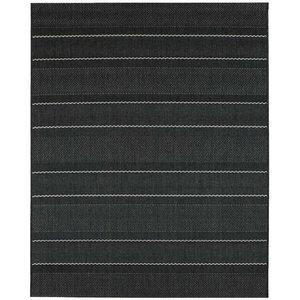 Mya Stripe Rug, Charcoal, 200x290 cm
