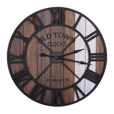 Reclaimed Metal and Wood Wall Clock