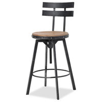 GDF Studio Modern Industrial Design Counter/Bar Stool, Adjustable Seat Height, S