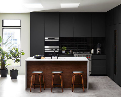 Matte Black Kitchen With Fenix Ntm