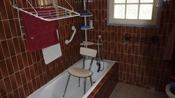 Aménagement salle de bain à Mios