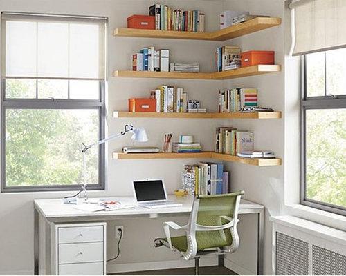 Minimalist Home Office Photo In Minneapolis