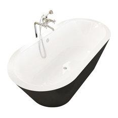 """Atlantis Tubs 3270VY Valley 32x70x23"""" Freestanding Soaking Bathtub"""