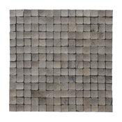 "16.54""x16.54"" Tumbled Oyster Shell Coconut Shell Wall Tiles, Set of 6"