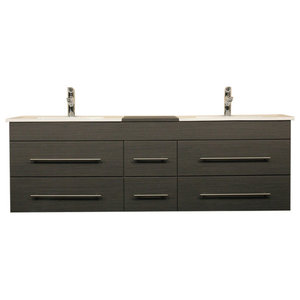 Emotion Roma Bathroom Furniture, 150 cm, Grained Anthracite