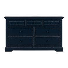 Dom Family Evolur Parker Double Dresser Distress Navy Dressers