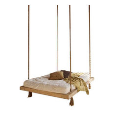 Nautical's Queen Swingbed, Light Stain, Cypress Wood