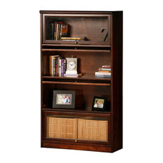 Eagle Furniture Promo 4-Door Lawyer Bookcase, Chocolate Mousse