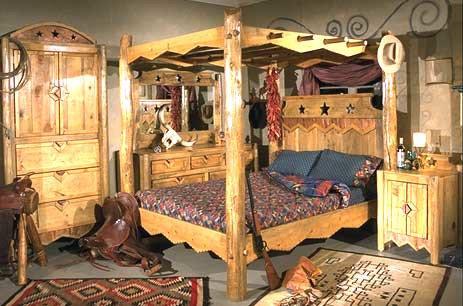 Arizona Ranch  Gerry Lamanski   Rustic Western Style Furniture   Beds