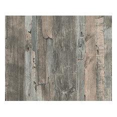 Modern Non-Woven Wallpaper For Accent Wall - 954052 Wood Wallpaper, Sample