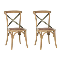 Safavieh EleanorxBack Side Chairs Set Of 2 Weathered Oak