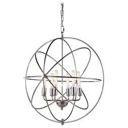 Transitional Pendant Lighting 1453 Vienna Collection Pendant Lamp, Polished Nickel