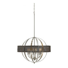 CAL Lighting FX-3622-6 60W X 6 Willow Chandelier (Edison Bulbs Not Included)