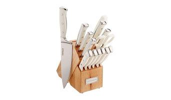 Cuisinart C77WTR-15P Triple Rivet Collection 15 Pc Cutlery Block Set White $62.9