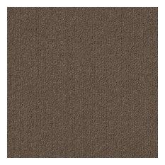 "Roanoke 18""x18"" Self-Adhesive Carpet Tiles, Espresso"