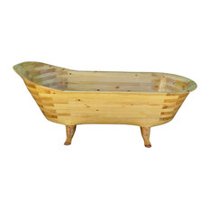 Artisan Carved Soaking Tub, Large