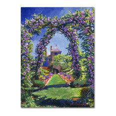 "David Lloyd Glover 'English Rose Arbor' Canvas Art, 18""x24"""