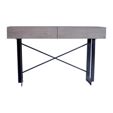 Tiburon Console Table Light Gray