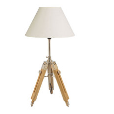 avion innovative products llc 1940u0027s vintage tripod table lamp hand made polished teak