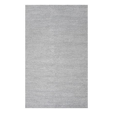 Braided Solid Area Rug, Light Gray, 8'x10'